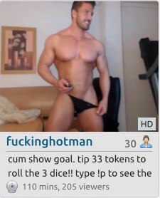 Straight guy with hot cock jerking on cam